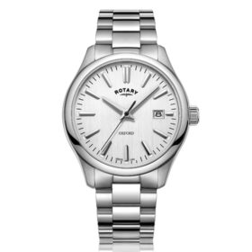 Rotary Oxford Silver Stainless Steel Quartz Watch