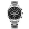 Rotary Cambridge Silver Black Stainless Steel
